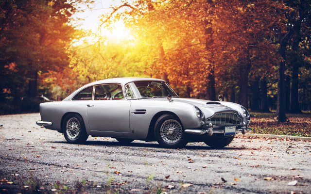 2560x1600 pix. Wallpaper car, fall, sunset, Aston Martin, Aston Martin DB5