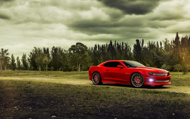 6022x4027 pix. Wallpaper chevrolet, chevrolet camaro, red car, cars, clouds