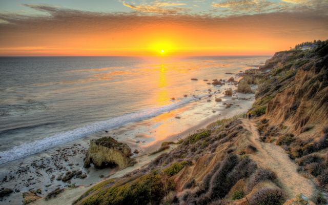 4386x2928 pix. Wallpaper malibu, california, united states, usa, nature, sunset, sun, sea