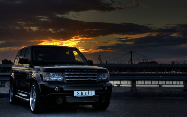 3906x2602 pix. Wallpaper 2008 range rover sport, tuning, cars, night, range rover, black car