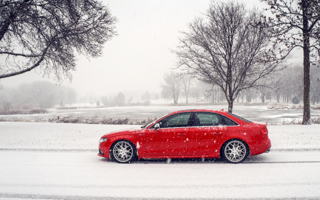 1920x1171 pix. Wallpaper audi s4, audi, cars, snow, winter, red car