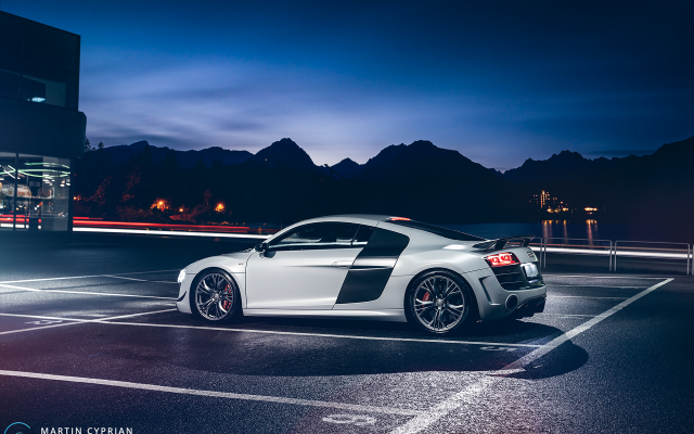 1920x1280 pix. Wallpaper 2012 audi r8 gt, audi, parking, night, cars, tuning, audi r8