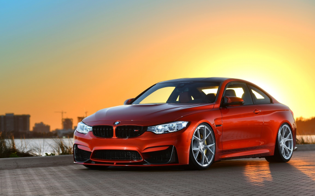 2560x1440 pix. Wallpaper bmw m4, sunset, bmw, cars, red car