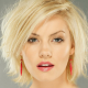 Elisha Cuthbert, women, blonde, blue eyes, short hair, open mouth, earrings, face, portrait wallpaper