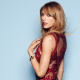 Taylor Swift, singer, celebrity, women, simple background, dress wallpaper