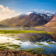 landscape, lake, mountains, nature, Italy, grass, water wallpaper