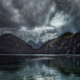 nature, landscape, lake, forest, fall, clouds, sun rays, mountain, Germany, dark, water wallpaper