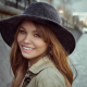 Anastasia Scheglova, women, model, face, portrait, hat, smiling wallpaper