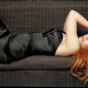 Nicole Kidman, celebrity, women, actress, redhead, couch, lying on back, curly wallpaper