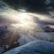 sunset, Dolomites, mountains, Italy, alps, summit, snow, sun rays, landscape, mountain wallpaper