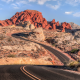 road, mountains, canyon, desert, Nevada, landscape, valley of fire highway, nature wallpaper
