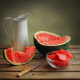 food, watermelon, knife wallpaper