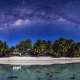 Aitutaki, Cook Islands, beach, galaxy, island, tropics, night, stars, nature wallpaper