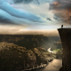 Preikestolen, Norway, clouds, sky, rock, mountains, fjord, men, nature, landscape wallpaper