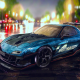 car, Mazda RX-7, tuning, Mazda, night, wet wallpaper