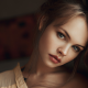 Anastasia Scheglova, women, hairs, face, hair bun wallpaper