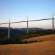 Millau Viaduct, France, bridge, viaduct, field, nature wallpaper