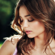 Miranda Kerr, closed eyes, brunette, nature, actress, women wallpaper