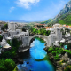 Stari Most, Mostar, Bosnia and Herzegovina, village, city, river, bridge wallpaper