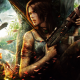 Tomb Raider, Lara Croft, video games, fan art, artwork, helicopter, gun wallpaper