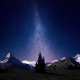 sky, mountains, stars, night, switzerland, swiss alps wallpaper