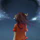 anime girls, night, sky, stars, The Melancholy of Haruhi Suzumiya, Suzumiya Haruhi wallpaper
