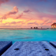 Maldives, resorts, tropics, beach, sea, nature, sunset, landscape, bungalow, walkway wallpaper