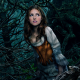 Anna Kendrick, Into the Woods, Cinderella, movies, women, actress, brunette, nature, tree, dress wallpaper