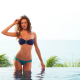 Reka Ebergenyi, women, model, auburn hair, bikini, water, swimming pool wallpaper