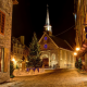 architecture, city, town, Quebec, Canada, night, christmass wallpaper