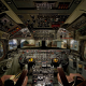 Douglas C-54, aircraft, cockpit, aviation wallpaper