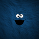 Cookie Monster, minimalism, fur, blue wallpaper