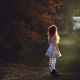 children, girl, sun rays, ballerina, dress wallpaper