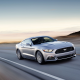 Ford Mustang GT, car, road, sunset, motion blur, Ford Mustang, Ford wallpaper