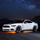 Ford Mustang GT Apollo Edition, car, muscle cars, Ford Mustang, Ford, stars, night wallpaper