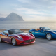 Ferrari California T Convertible, road, sea, sunset, car, Ferrari California, Ferrari wallpaper