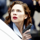 Peggy Carter, Hayley Atwell, women, actress, red lipstick, gun, women with guns, weapon wallpaper