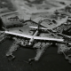 Hughes, HK-1 Hercules, HK-1, planes, aircraft, tilt shift, monochrome wallpaper