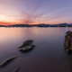 sunset, sea, long exposure, nature, landscapes wallpaper