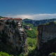 meteora, greece, monastery, cliff, nature, middle of the sky,  wallpaper