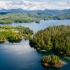 Prince of Wales Island, nature, lake, forest, spring, island, alaska, tree wallpaper