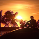Kung Fury, movies, palms, sunset wallpaper