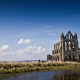 whitby abbey, england, river, church, nature wallpaper