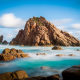 sugarloaf rock, australia, nature, sea, rock, ocean wallpaper