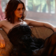 keira knightley, actress, women, bare shoulders, dress, black dress wallpaper