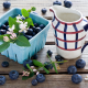 berry, bilberry, blueberry, milk, food wallpaper