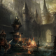 dark souls 3, artwork, video games, castle wallpaper