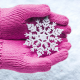 snow, snow flake, gloves, winter, nature wallpaper
