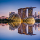 marina bay sands, hotel, singapore, city, reflections, gardens by the bay wallpaper