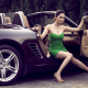women, dress, car, wheels, heels, luxury, legs wallpaper